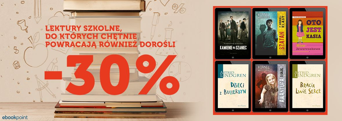 Promocja na ebooki Lektury / Nasza Księgarnia [-30%]